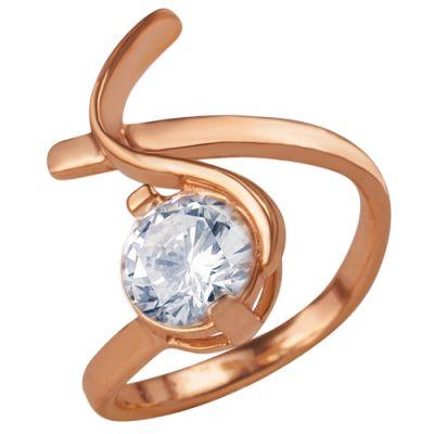 Кольцо серебряное 2381514Серебряные кольца<br>Вес  4,75<br>Вставка  Фианит;<br>Покрытие  золочение Размер: 16.5<br><br>Высота: 3<br>Размер RU: 16.5