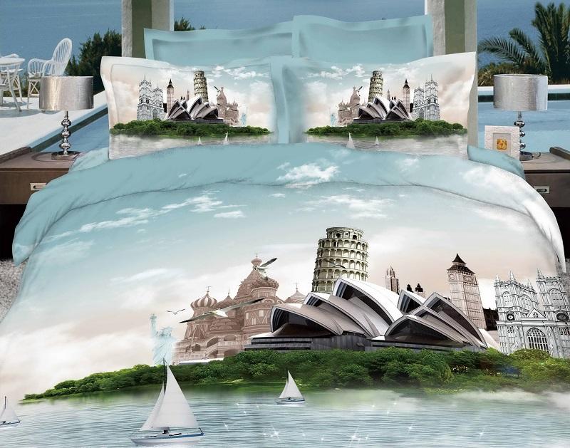 Постельное белье Чудеса света 3D (сатин) 2 спальный с Евро простынёйСатин 3D и 5D<br>Размер: 2 спальный с Евро простынёй<br><br>Принадлежность: Для дома<br>Плотность КПБ: 120 гр/кв.м<br>Категория КПБ: Здания<br>По назначению: Повседневные<br>Рисунок наволочек: Расположение элементов расцветки может не совпадать с рисунком на картинке<br>Основной материал: Сатин<br>Вид товара: КПБ<br>Материал: Сатин<br>Плотность: 120 г/кв. м.<br>Состав: 100% хлопок<br>Комплектация КПБ: Пододеяльник (на молнии), простыня, наволочка (на молнии)<br>Длина: 37<br>Ширина: 28<br>Высота: 9<br>Размер RU: 2 спальный с Евро простынёй