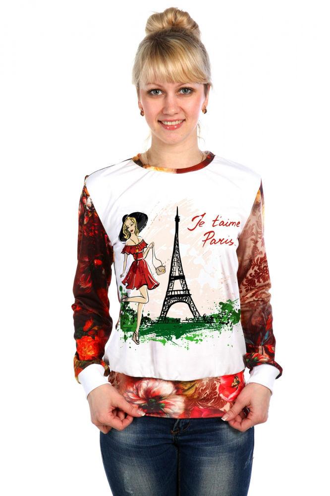 "Свитшот женский ""Париж"""