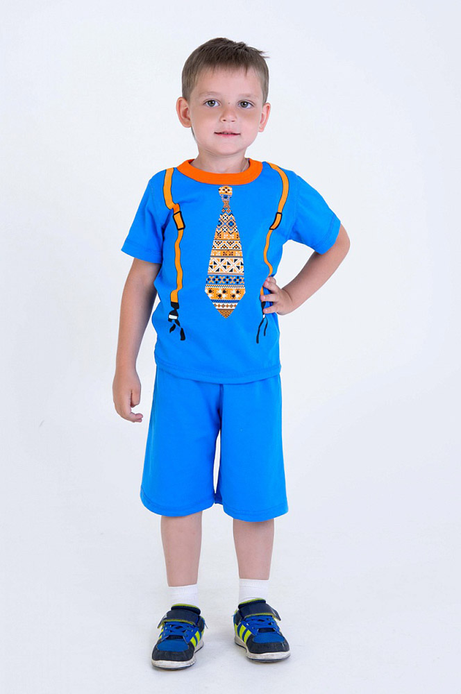 Костюм БермудыПрочие костюмы<br>Ох уж эти дети, которые не могут ни минуты посидеть на месте и абсолютно не щадят своих красивых и ярких вещей! Но, знаете, в новом детском костюме Бермуды ему и не придется беспокоиться о том, что изделие сильно помнется или вовсе быстро износится!   Это яркий и невероятно красивый костюм для маленького мальчика (до шести лет) сшит из кулирки, натурального хлопкового материала, который обладает высокой износостойкостью и низкой сминаемостью. Кроме того, кулирка обладает свойством надолго сохранять яркость расцветки и форму изделия.   Детский костюм Бермуды отлично подойдет для активных игр на свежем воздухе в теплое летнее время, а также для носки дома! Размер: 26<br><br>Принадлежность: Детская одежда<br>Возраст: Дошкольник (1-6 лет)<br>Пол: Мальчик<br>Основной материал: Кулирка<br>Вид товара: Детская одежда<br>Материал: Кулирка<br>Длина: 19<br>Ширина: 10<br>Высота: 6<br>Размер RU: 26