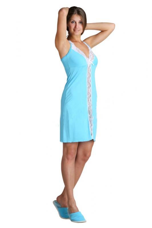 Ночная сорочка СамираСорочки и ночные рубашки<br>Размер: 42<br><br>Принадлежность: Женская одежда<br>Основной материал: Вискоза<br>Страна - производитель ткани: Россия, г. Иваново<br>Вид товара: Одежда<br>Материал: Вискоза<br>Состав: 93% вискоза, 7% лайкра<br>Длина рукава: Без рукава<br>Длина: 18<br>Ширина: 12<br>Высота: 7<br>Размер RU: 42