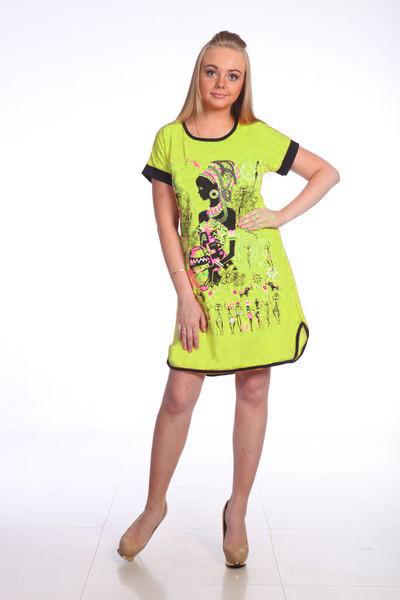 Туника женская КамаТуники<br>Женственность - черта, присущая каждой представительнице прекрасного пола, однако, эту черту нужно уметь подчеркивать в себе. Сделать это легче всего с помощью правильно подобранной одежды.   Женская туника Кама - это яркий пример того, какой должна быть ваша одежда, если вы хотите выглядеть действительно женственно и привлекательно. При всем этом данная модель не имеет сверхмодного дизайна, а ее главная особенность - это полуприталенный крой и стильное сочетание желтого и черного цветов в расцветке.    Модель Кама будет незаменима в носке в качестве домашней одежды, потому что она довольно удобна и не стесняет движения, а в ее составе находится хлопковое волокно. Размер: 56<br><br>Принадлежность: Женская одежда<br>Основной материал: Кулирка<br>Страна - производитель ткани: Россия, г. Иваново<br>Вид товара: Одежда<br>Материал: Кулирка<br>Сезон: Лето<br>Тип застежки: Без застежки<br>Состав: 100% хлопок<br>Длина рукава: Короткий<br>Длина: 18<br>Ширина: 12<br>Высота: 7<br>Размер RU: 56