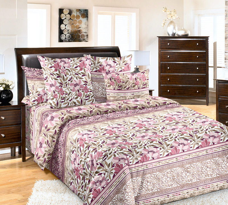 Постельное белье Констанция розовый (бязь) 2 спальныйПРЕМИУМ<br>Размер: 2 спальный<br><br>Высота: 7<br>Размер RU: 2 спальный
