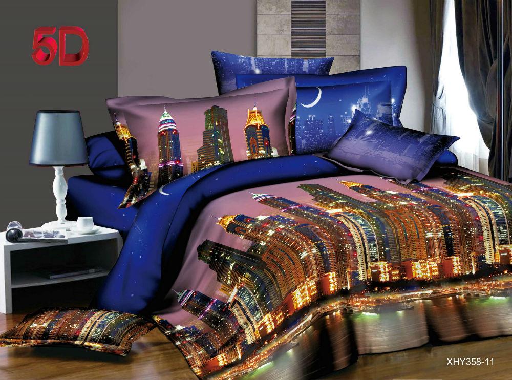 """Постельное белье """"Сингапур"""" 5D (полисатин) 1,5 спальный"""