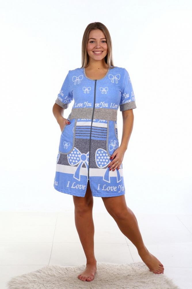 Халат женский ВеннитаЛегкие халаты<br>Размер: 42<br><br>Принадлежность: Женская одежда<br>По назначению: Повседневные<br>Основной материал: Махра<br>Страна - производитель ткани: Россия, г. Иваново<br>Вид товара: Одежда<br>Материал: Махра<br>Тип застежки: Молния<br>Длина рукава: Короткий<br>Длина: 19<br>Ширина: 17<br>Высота: 9<br>Размер RU: 42