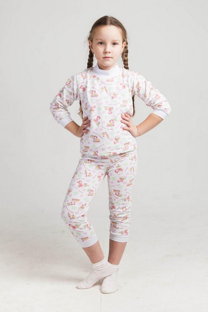 Пижама детская ТанюшкаПижамы<br>Размер: 32<br><br>Возраст: Младший школьный возраст (7-10 лет)<br>Пол: Девочка<br>Основной материал: Футер<br>Страна - производитель ткани: Россия, г. Иваново<br>Вид товара: Детская одежда<br>Материал: Футер<br>Длина: 18<br>Ширина: 12<br>Высота: 7<br>Размер RU: 32