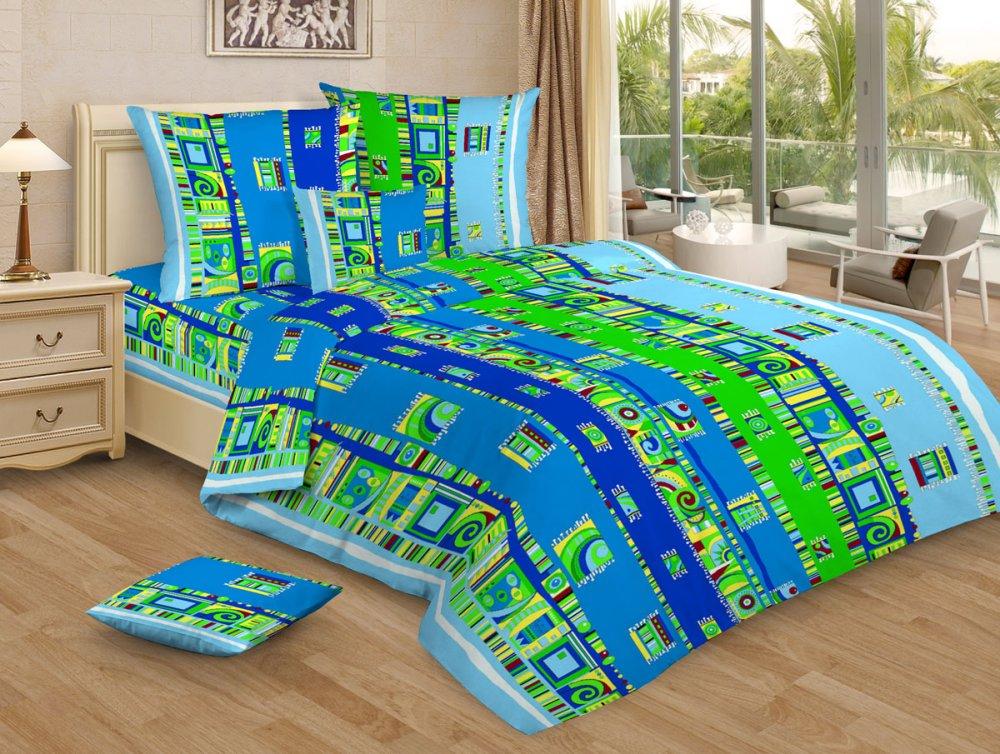 """Постельное белье """"Мексика голубой GS"""" (бязь) 1,5 спальный"""