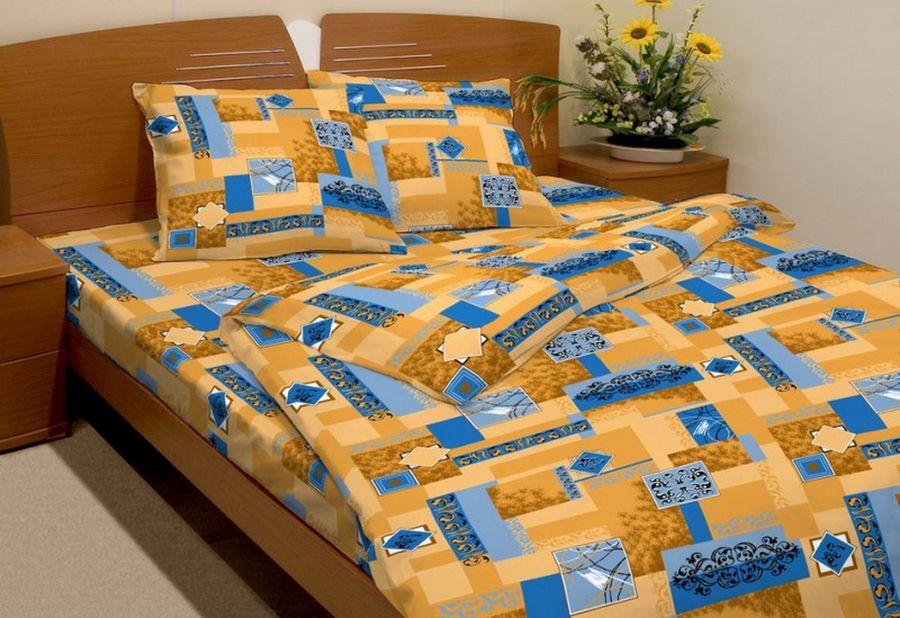 """Постельное белье """"Вензель коричневый GS"""" (бязь) 1,5 спальный"""