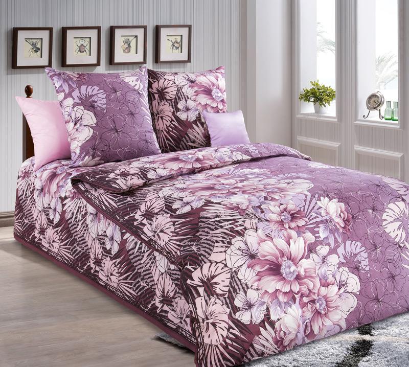 """Постельное белье """"Упоение"""" розовый (бязь) 1,5 спальный от Grandstock"""