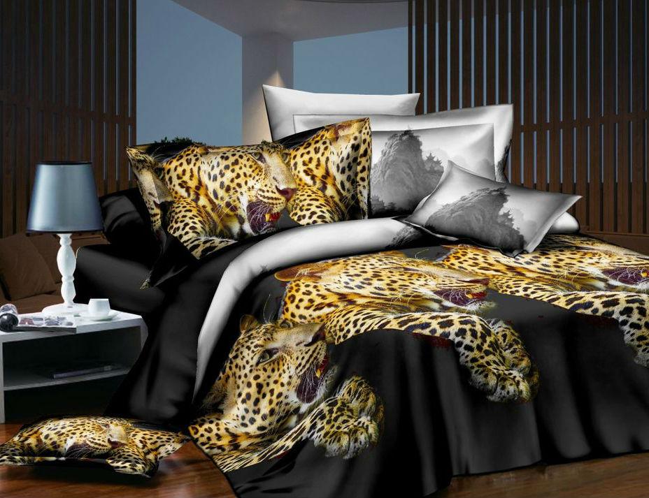 Постельное белье Хищник 5D (шелк искусственный) (1,5 спальный) постельное белье сладкий сон шелк искусственный 1 5 спальный