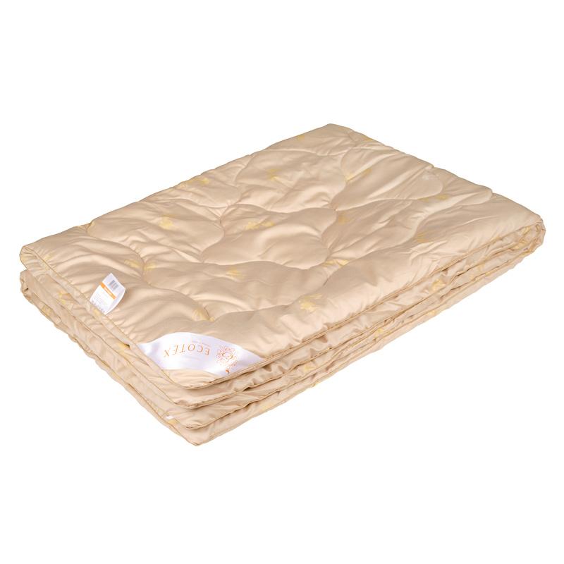 """Одеяло зимнее """"Сафари"""" (верблюжья шерсть, сатин) 1,5 спальный (140*205)"""
