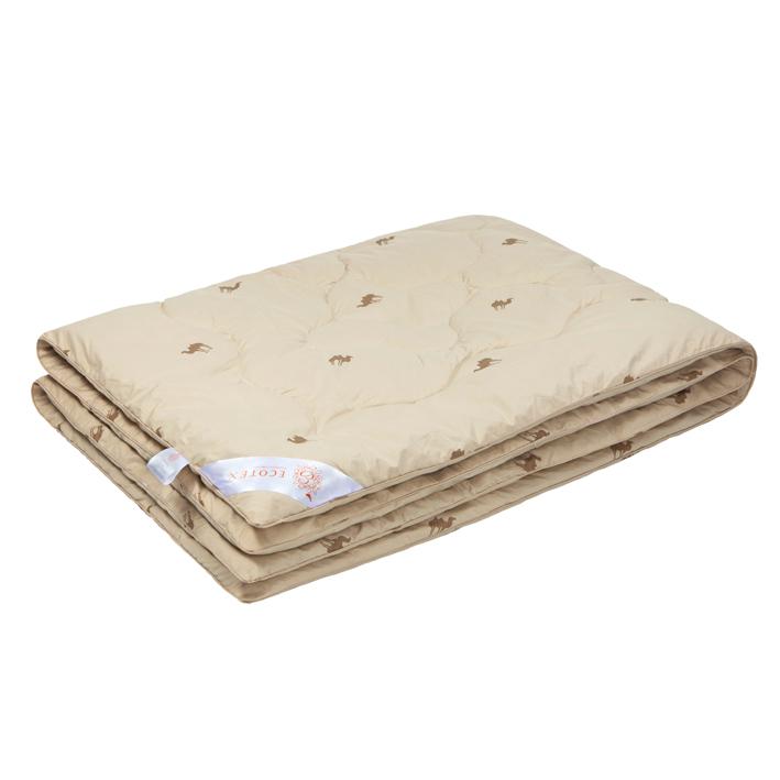 """Одеяло зимнее """"Сафари"""" (верблюжья шерсть, тик) 1,5 спальный (140*205)"""