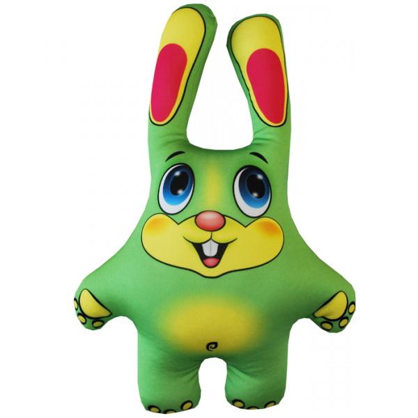 """Антистрессовая игрушка """"Заяц зеленый"""" 39х27"""