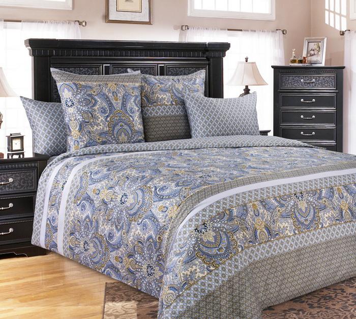 Постельное белье Либретто голубой (сатин) 2 спальныйСатин<br>Размер: 2 спальный<br><br>Высота: 9<br>Размер RU: 2 спальный