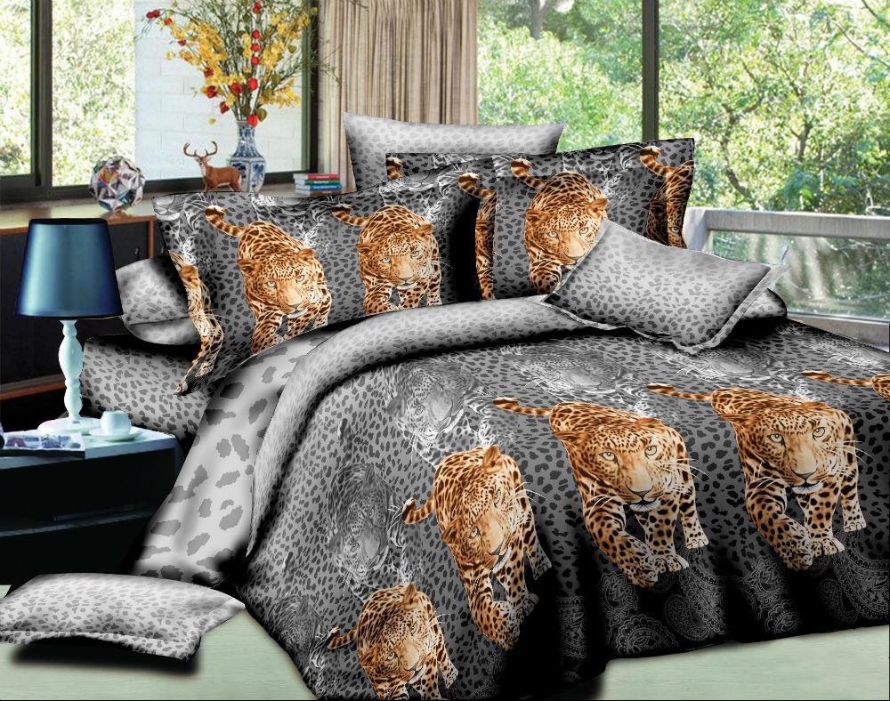 Постельное белье Хищник (жатка) 1,5 спальный (простыня на резинке)