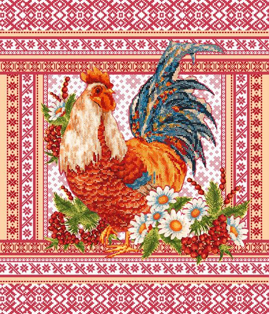 Полотенце вафельное Фольклор 50х60Кухонные полотенца<br>Размер: 50х60<br><br>Высота: 2<br>Размер RU: 50х60