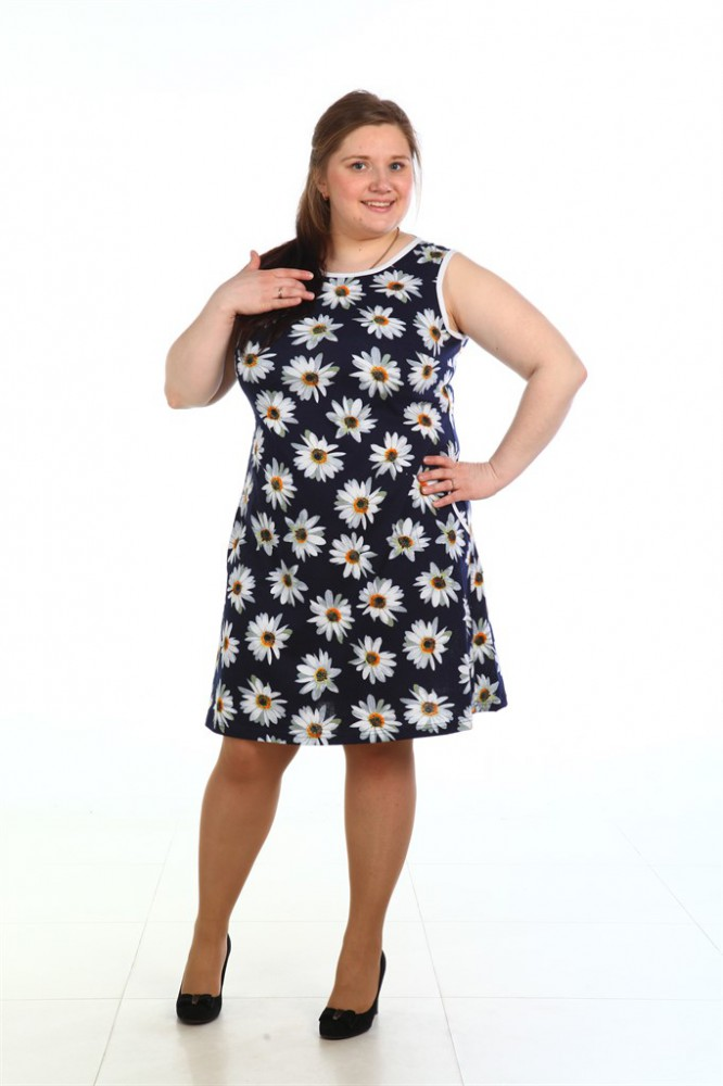 Сарафан женский БрукСарафаны<br>Мы желаем, чтобы летом вы, милые дамы, были особенно красивы и очаровательны! А поможет вам в этом женский летний сарафан Брук, представленный в нашем каталоге модной женской одежды.<br>Данный сарафан подходит для повседневной носки, но при этом он имеет женственный фасон и яркую цветочную расцветку. Кроме того, изделие сшито из кулирки, ткани с мягкой текстурой и высокой воздухопроницаемостью, поэтому вы будете носить данное изделие с комфортом. Спинка сарафана выполнена с оригинальным вырезом.<br>Женский сарафан Брук имеет большой размерный ряд, и найти свой размер вам точно не составит труда. А приобрести его вы можете на сайте магазина, оформив заказ в режиме онлайн. Размер: 52<br><br>Высота: 7<br>Размер RU: 52