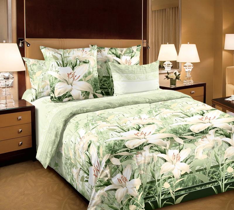 Постельное белье Луиза зеленый (бязь) 2 спальныйПРЕМИУМ<br>Размер: 2 спальный<br><br>Высота: 8<br>Размер RU: 2 спальный