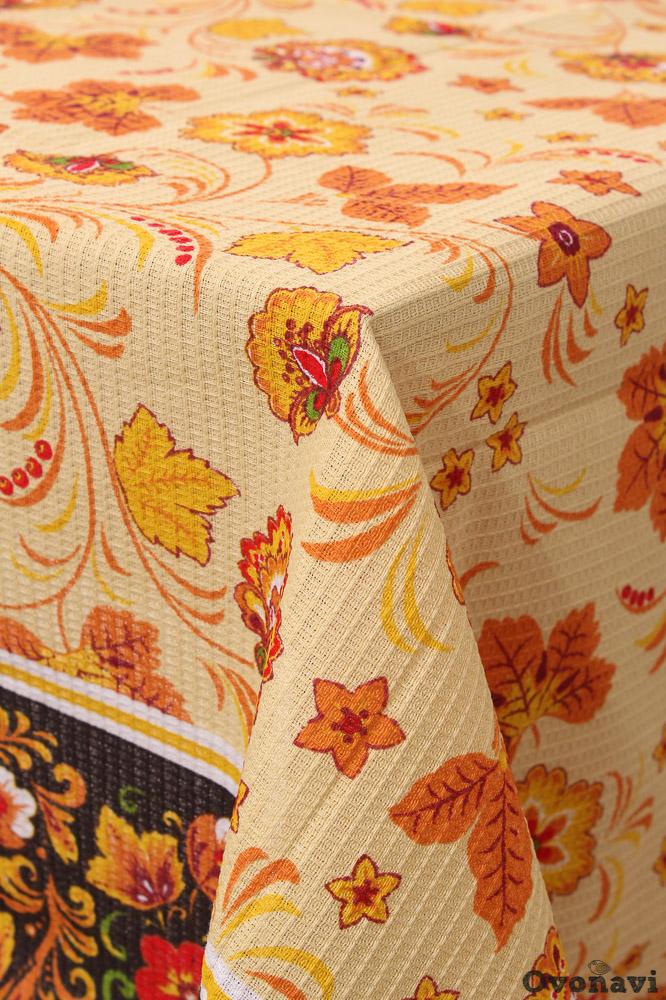 Скатерть столовая Ланч 100*150Натуральные скатерти<br>Выбор кухонного текстиля - всегда непростая задача, ведь именно он постоянно контактирует со влагой, жиром, всевозможными загрязнителями и сторонними запахами. Но со скатертью столовой Ланч можно не беспокоиться о мелочах!<br>Выполненная из вафельного полотна, она стильно дополнит интерьер благодаря яркой, но элегантной расцветке. За счет своей фактуры, ткань поглощает влагу, быстро сохнет, легко отстирывается и не требует сложного ухода. Она не деформируется и не выцветает даже при ежедневном использовании и регулярных стирках.<br>Среди других преимуществ столовой скатерти Ланч, которые легко оценить самостоятельно - доступная цена. Размер: 100*150<br><br>Производство: Производится про запас<br>Принадлежность: Для дома<br>По назначению: Повседневные<br>Основной материал: Вафельное полотно<br>Страна - производитель ткани: Россия, г. Иваново<br>Вид товара: Скатерти<br>Материал: Вафельное полотно<br>Сезон: Круглогодичный<br>Состав: 100% хлопок<br>Длина: 25<br>Ширина: 17<br>Высота: 2<br>Размер RU: 100*150