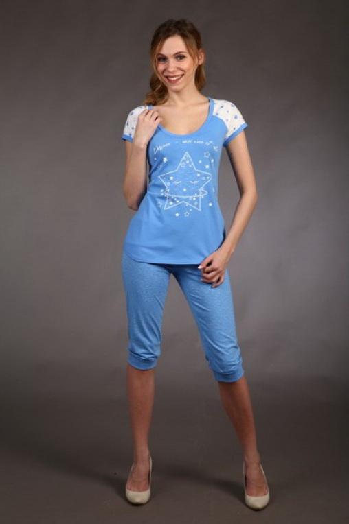 Пижама женская ЛоннеттаПижамы<br>Размер: 46<br><br>Принадлежность: Женская одежда<br>Комплектация: Бриджи, футболка<br>Основной материал: Кулирка<br>Страна - производитель ткани: Россия, г. Иваново<br>Вид товара: Одежда<br>Материал: Кулирка<br>Тип застежки: Без застежки<br>Состав: 100% хлопок<br>Длина рукава: Короткий<br>Длина: 18<br>Ширина: 12<br>Высота: 7<br>Размер RU: 46