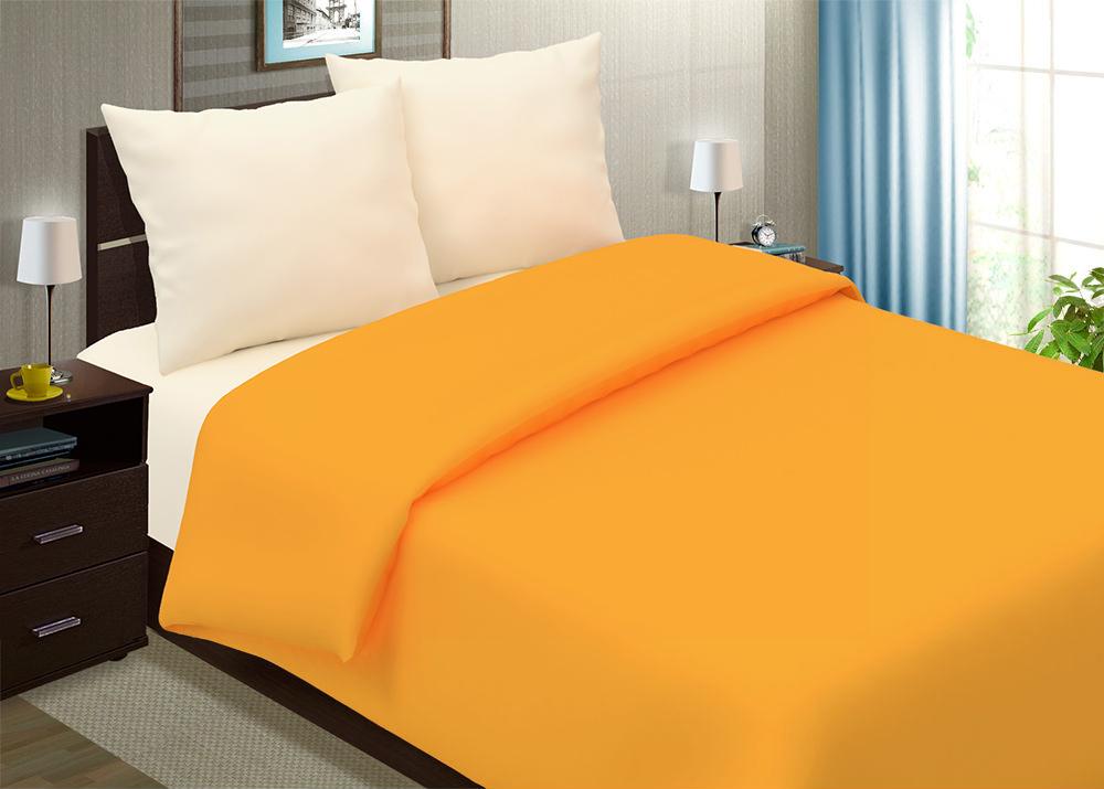 """Постельное белье """"Апельсиновый мусс"""" (поплин) 2 спальный с Евро простынёй"""