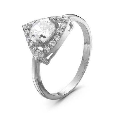 Кольцо серебряное 2387054ДСеребряные кольца<br>Вес  2,46<br>Вставка  фианиты<br>Покрытие  родирование Размер: 17.5<br><br>Высота: 3<br>Размер RU: 17.5