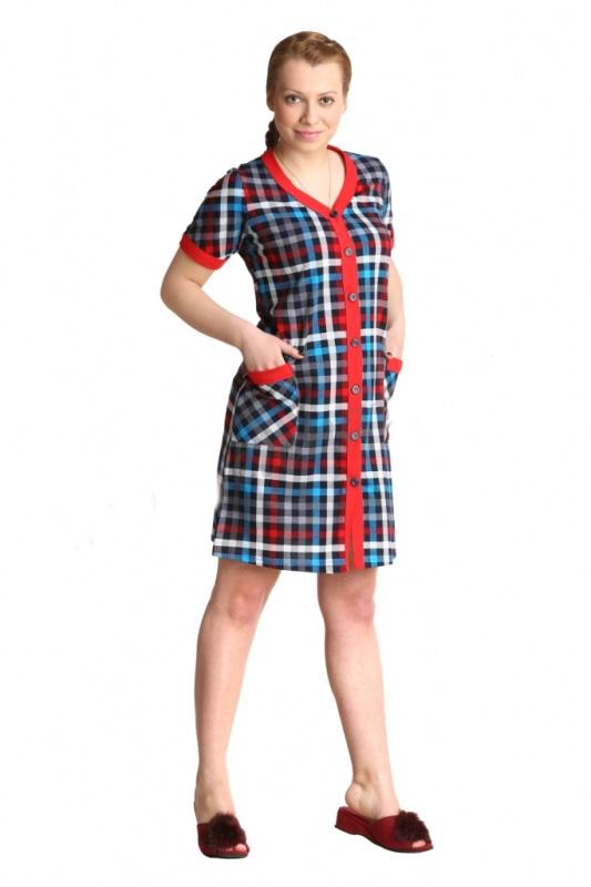 Халат женский ХейлиЛегкие халаты<br>Имеется пояс<br><br>Длина изделия  по спинке:<br><br>42-48 размер93 см<br>50-56 размер100 см<br>  Размер: 44<br><br>Принадлежность: Женская одежда<br>Основной материал: Кулирка<br>Страна - производитель ткани: Россия, г. Иваново<br>Вид товара: Одежда<br>Материал: Кулирка<br>Сезон: Лето<br>Тип застежки: Пуговицы<br>Состав: 100% хлопок<br>Длина рукава: Короткий<br>Длина: 19<br>Ширина: 14<br>Высота: 4<br>Размер RU: 44
