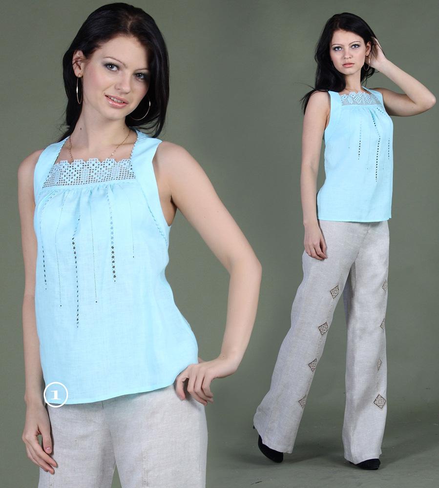Топ льняной КэролайнТопы<br>Длина по спинке : 57<br><br>Полуобхват груди под проймой : 44 Размер: 44<br><br>Принадлежность: Женская одежда<br>Основной материал: Лен<br>Страна - производитель ткани: Россия, г. Пучеж<br>Вид товара: Одежда<br>Материал: Лен<br>Тип застежки: Без застежки<br>Длина рукава: Без рукава<br>Длина: 18<br>Ширина: 12<br>Высота: 7<br>Размер RU: 44