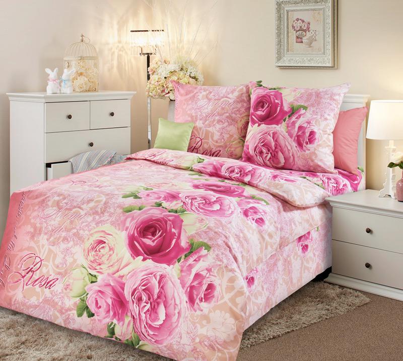 """Постельное белье """"Аромат розы"""" (бязь) 1,5 спальный"""