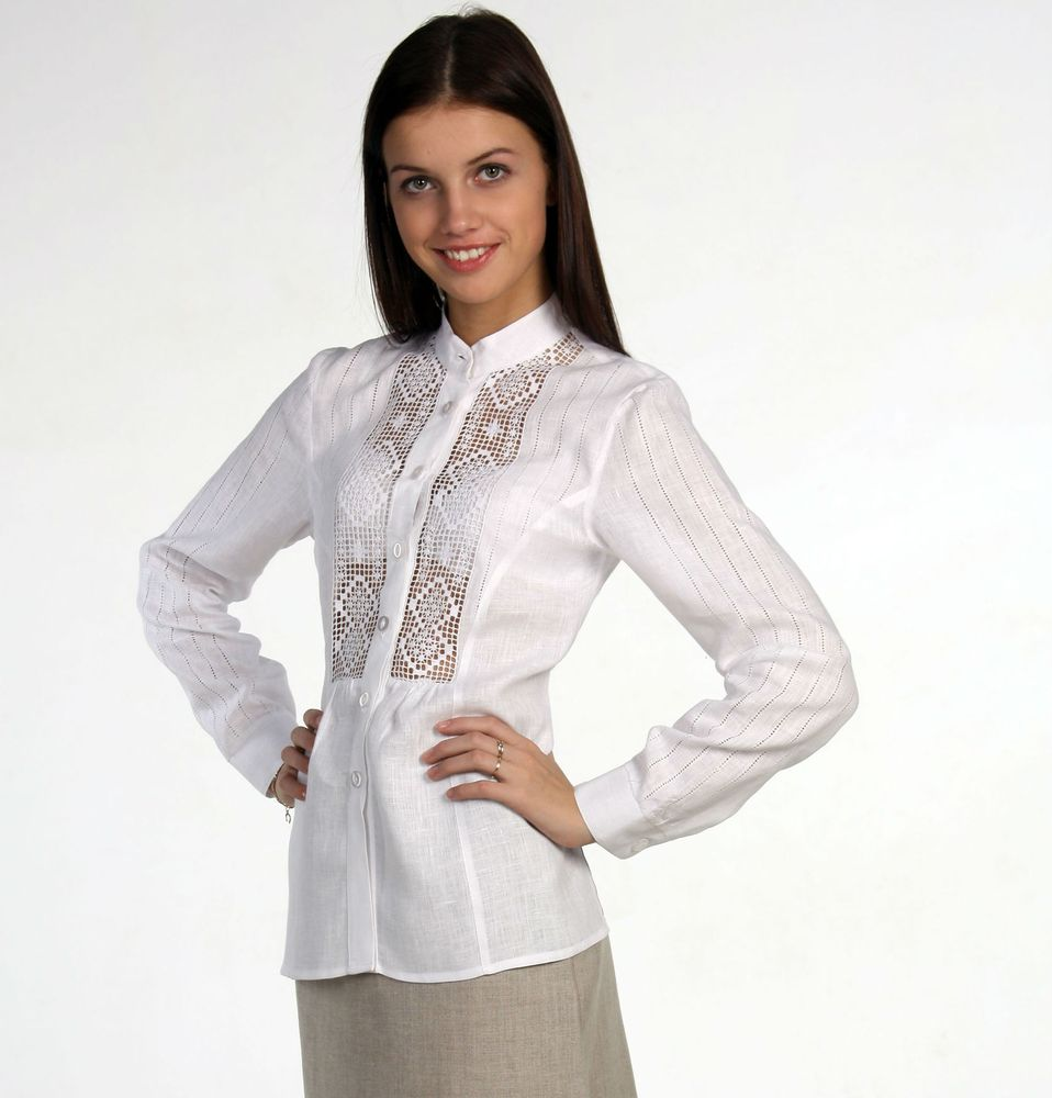 Блузка льняная ПаулаБлузки<br>46 размер - длина 65 см, длина рукава 57 см<br>54 размер - длина 70 см, дл.рукава 61 см  Размер: 54<br><br>Основной материал: Лен<br>Страна - производитель ткани: Россия, г. Пучеж<br>Вид товара: Одежда<br>Материал: Лен<br>Длина: 18<br>Ширина: 12<br>Высота: 7<br>Размер RU: 54