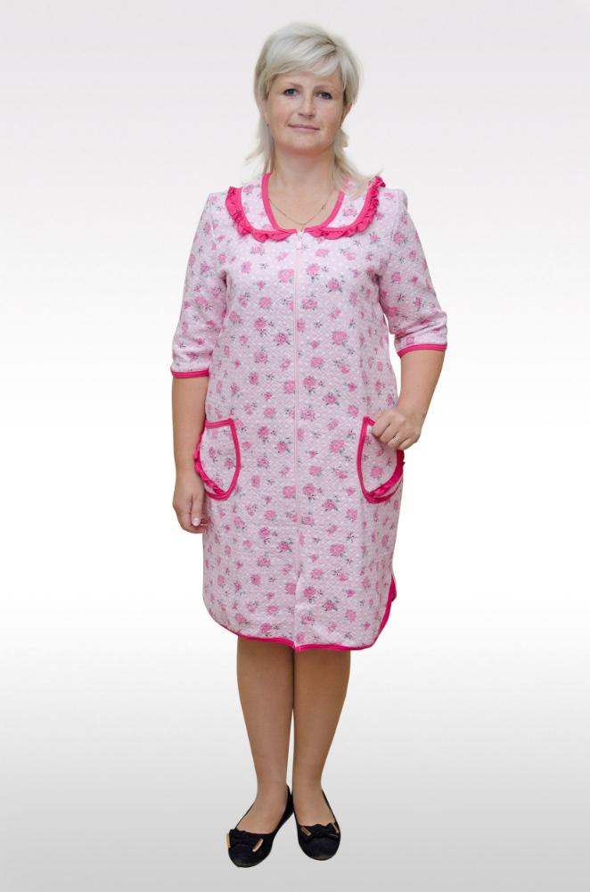 Халат женский ОлбиТеплые халаты<br>Размер: 54<br><br>Принадлежность: Женская одежда<br>Основной материал: Капитон<br>Страна - производитель ткани: Россия, г. Иваново<br>Вид товара: Одежда<br>Материал: Капитон<br>Тип застежки: Молния<br>Длина рукава: Средний<br>Длина: 30<br>Ширина: 20<br>Высота: 11<br>Размер RU: 54