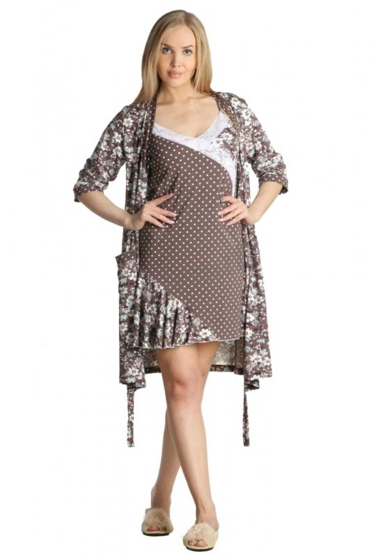 Комплект женский ДайнораНочные комплекты<br>На халате один накладной карман.<br><br>Длина халата по спинке:<br>44-56 размеры 94 см<br><br>Длина сорочки по боковому шву:<br>44-56 размер 63 см Размеры:44,46,48,50,52,54,56<br><br>Принадлежность: Женская одежда<br>Основной материал: Вискоза<br>Страна - производитель ткани: Россия, г. Иваново<br>Вид товара: Одежда<br>Материал: Вискоза с лайкрой<br>Состав: 93% вискоза, 7% лайкра<br>Длина: 18<br>Ширина: 17<br>Высота: 7<br>Размер RU: 44,46,48,50,52,54,56