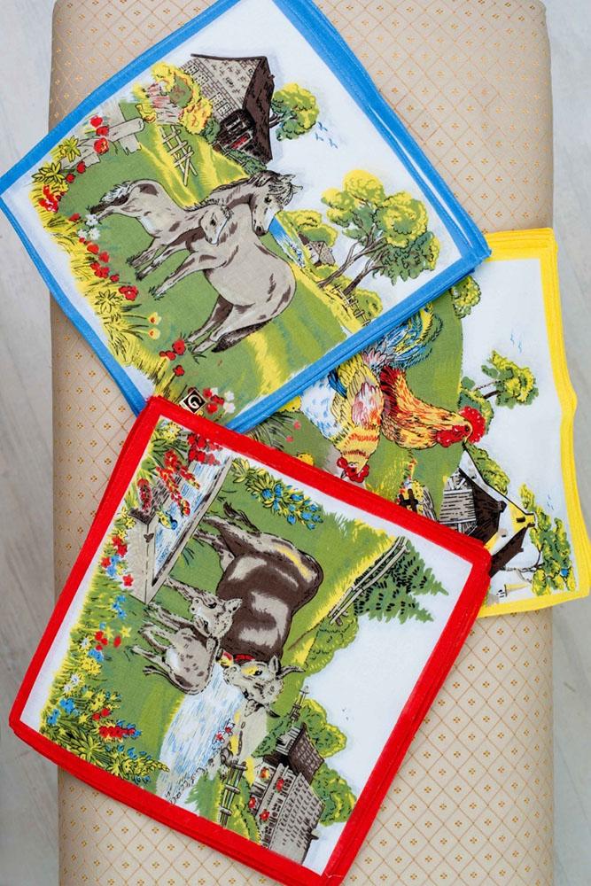Платки Животные 2 (упаковка 12 штук) 25х25Платки<br>Никакие бумажные платки никогда не заменят старых - добрых тряпичных платков. Вот почему мы хотим представить вашему вниманию комплект из двенадцати носовых платочков с изображениями животных на фоне деревни Животные 2.<br>Данные платки выполнены из натурального хлопкового материала, они позаботятся о вас в любой момент, когда вы будете в них нуждаться! Они имеют стандартный размер (25х25 см) и легко поместятся в дамской сумочке или кармане брюк и куртки.<br>А то, что вы можете приобрести носовые платочки в комплекте, - это дополнительный плюс, потому что вы всегда можете заменить ставший непригодным платок на новый. Размер: 25х25<br><br>Производство: Закупается про запас<br>Принадлежность: Женская одежда<br>Основной материал: Хлопок<br>Страна - производитель ткани: Китай<br>Вид товара: Аксессуары<br>Материал: Хлопок<br>Состав: 100% хлопок<br>Длина: 12<br>Ширина: 11<br>Высота: 1<br>Размер RU: 25х25