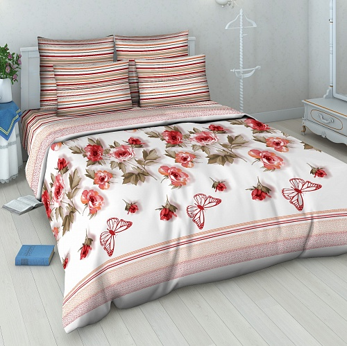 """Постельное белье """"Розовый вальс"""" (бязь) 1,5 спальный"""