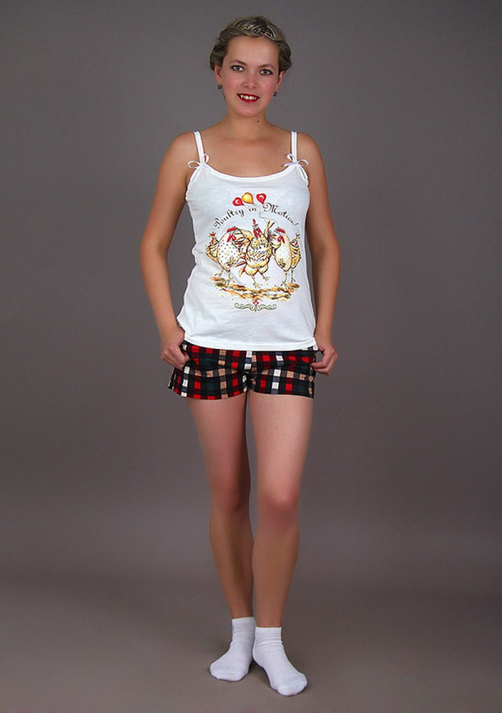 Пижама женская ПетушокПижамы<br>Размер: 50<br><br>Принадлежность: Женская одежда<br>Комплектация: Шорты, майка<br>Основной материал: Кулирка<br>Страна - производитель ткани: Россия, г. Шуя<br>Вид товара: Одежда<br>Материал: Кулирка<br>Тип застежки: Без застежки<br>Состав: 100% хлопок<br>Длина рукава: Без рукава<br>Длина: 18<br>Ширина: 12<br>Высота: 7<br>Размер RU: 50