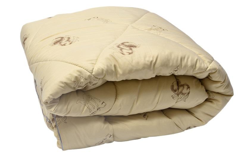 """Одеяло зимнее """"Каракум"""" (верблюжья шерсть, микрофайбер) 2 спальный (172*205)"""