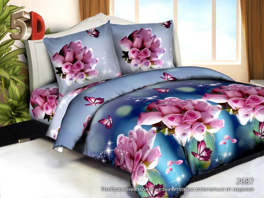 Постельное белье Лихтенштейн 5D (жатка) 2 спальный с Евро простынёйМикрофибра<br>Размер: 2 спальный с Евро простынёй<br><br>Принадлежность: Для дома<br>Плотность КПБ: 105 гр/кв.м<br>Категория КПБ: Цветы и растения<br>По назначению: Повседневные<br>Рисунок наволочек: Расположение элементов расцветки может не совпадать с рисунком на картинке<br>Основной материал: Жатка<br>Страна - производитель ткани: Россия, г. Иваново<br>Вид товара: КПБ<br>Материал: Жатка<br>Сезон: Круглогодичный<br>Плотность: 105 г/кв. м.<br>Состав: 100% полиэстер<br>Комплектация КПБ: Пододеяльник, простыня, наволочка<br>Длина: 37<br>Ширина: 26<br>Высота: 5<br>Размер RU: 2 спальный с Евро простынёй