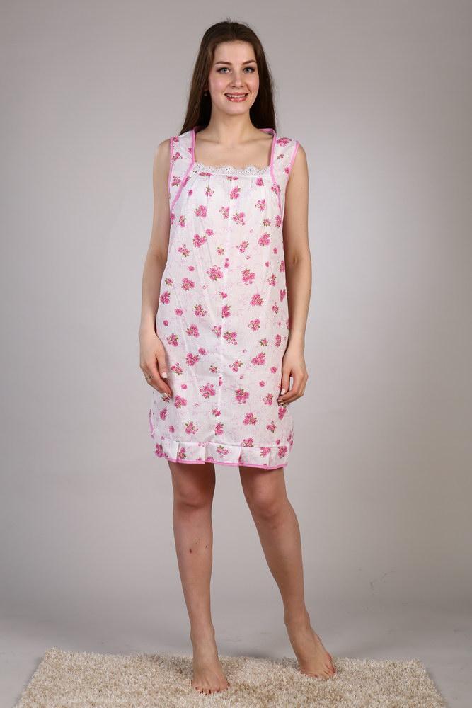Ночная сорочка БланкаСорочки и ночные рубашки<br>Классическая женская ночная сорочка &amp;amp;mdash; это мягкая ткань, изящный фасон и нежные светлые тона. Сама нежность &amp;amp;mdash; скорее всего, именно так вам захочется охарактеризовать модель Бланка.<br>Действительно, дизайн данной ночной сорочки выглядит очень нежно, и это совсем не удивительно, ведь модель выполнена в светлых тонах и украшена симпатичным растительным узором. Более того, сорочка отлично подчеркивает женскую фигуру, делая силуэт более утонченным и изящным. Закругленный низ сорочки декорирован красивой оборкой, что придает модели еще больше женственности.<br>Женская ночная сорочка Бланка сшита из тонкого мягкого ситца, а потому назвать нежным можно не только ее дизайн, но и текстуру - и вы поймете это при первом же прикосновении изделия к вашему телу. Размер: 52<br><br>Принадлежность: Женская одежда<br>Основной материал: Ситец<br>Страна - производитель ткани: Россия, г. Иваново<br>Вид товара: Одежда<br>Материал: Ситец<br>Состав: 100% хлопок<br>Длина: 18<br>Ширина: 12<br>Высота: 7<br>Размер RU: 52