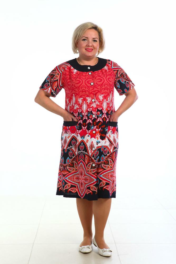 Халат женский БрюссельЛегкие халаты<br>Когда речь заходит о женской одежде, то к требованию комфортабельная или удобная, добавляется еще одно - элегантная. Причем применимо это ко всей одежде - даже к той, что предназначена для носки дома. <br>Вот почему наша новая модель, женский домашний халат Брюссель, отличается не только удобным фасоном, не стесняющим вас в движении, но и элегантным дизайном, чтобы вы ни на минуту не забывали о том, что вы - женщина. Удобный халат на пуговицах, украшен кокеткой с кантом, с карманами и хлястиками для регулирования ширины по талии. <br>При этом данный халат для женщин отличается довольно плотной, но при этом очень мягкой текстурой, ведь он сшит из кулирки, а она, как известно, обладает экологически чистым хлопковым составом.<br> <br> Размер: 64<br><br>Принадлежность: Женская одежда<br>Основной материал: Кулирка<br>Вид товара: Одежда<br>Материал: Кулирка<br>Длина изделия: 112 см<br>Состав: 80% хлопок, 20% полиэстер<br>Длина рукава: Короткий<br>Длина: 19<br>Ширина: 17<br>Высота: 9<br>Размер RU: 64