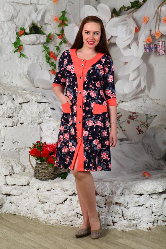 Халат женский СанниваЛегкие халаты<br>Размер: 56<br><br>Высота: 9<br>Размер RU: 56