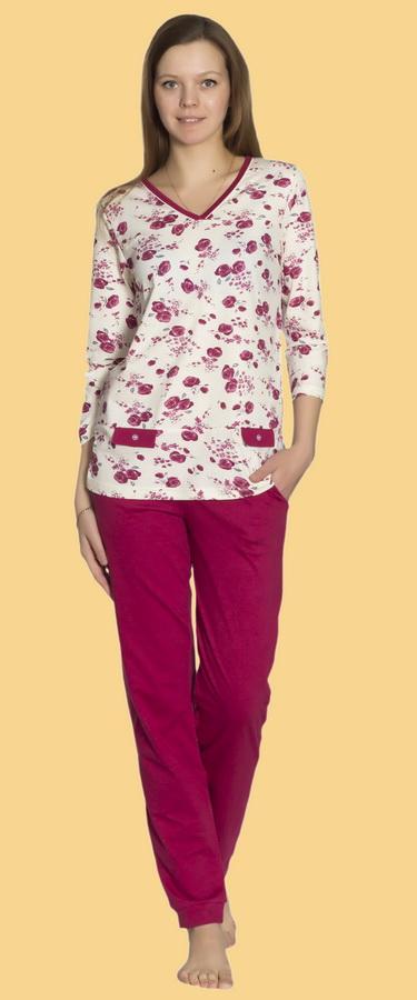 Пижама женская ДжениферПижамы<br>Размер: 60<br><br>Принадлежность: Женская одежда<br>Основной материал: Кулирка<br>Вид товара: Одежда<br>Материал: Кулирка<br>Длина: 18<br>Ширина: 12<br>Высота: 7<br>Размер RU: 60