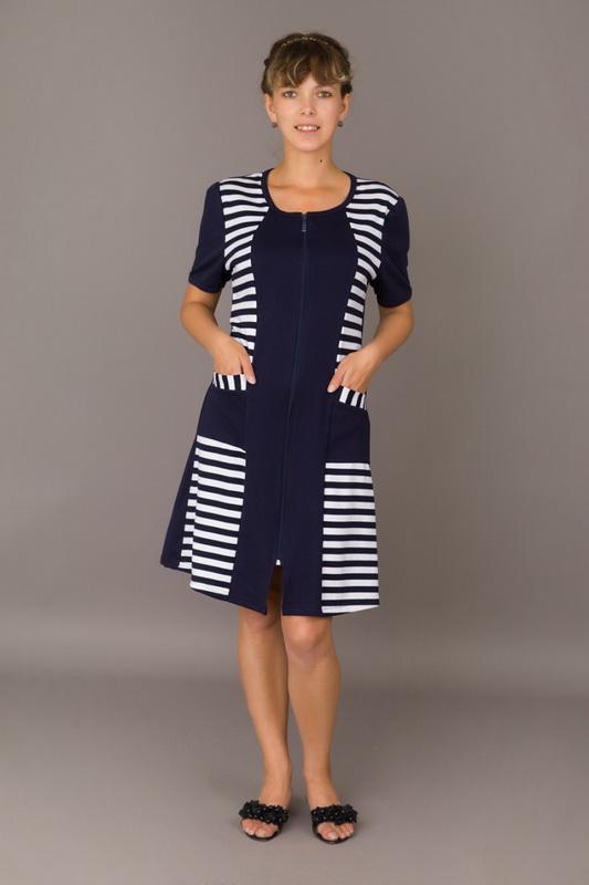 Халат женский ВеранаЛегкие халаты<br>Размер: 48<br><br>Принадлежность: Женская одежда<br>Основной материал: Трикотаж<br>Вид товара: Одежда<br>Материал: Трикотаж<br>Длина рукава: Короткий<br>Длина: 19<br>Ширина: 17<br>Высота: 9<br>Размер RU: 48