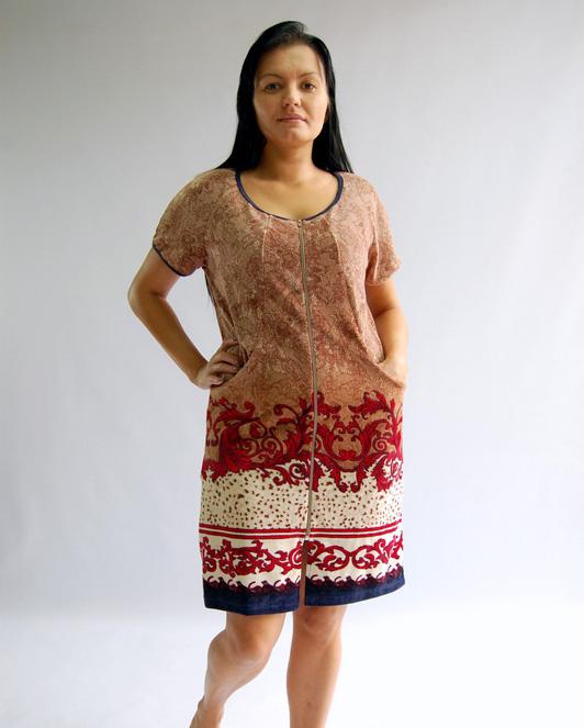 Халат женский ЖульенТеплые халаты<br>Размер: 48<br><br>Принадлежность: Женская одежда<br>Основной материал: Велюр<br>Вид товара: Одежда<br>Материал: Велюр<br>Длина рукава: Короткий<br>Длина: 19<br>Ширина: 17<br>Высота: 9<br>Размер RU: 48