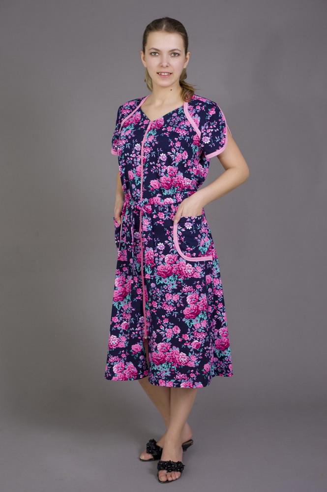 Халат женский НереусаЛегкие халаты<br>Размер: 50<br><br>Принадлежность: Женская одежда<br>Основной материал: Трикотаж<br>Вид товара: Одежда<br>Материал: Трикотаж<br>Состав: 100% хлопок<br>Длина рукава: Короткий<br>Длина: 19<br>Ширина: 17<br>Высота: 9<br>Размер RU: 50