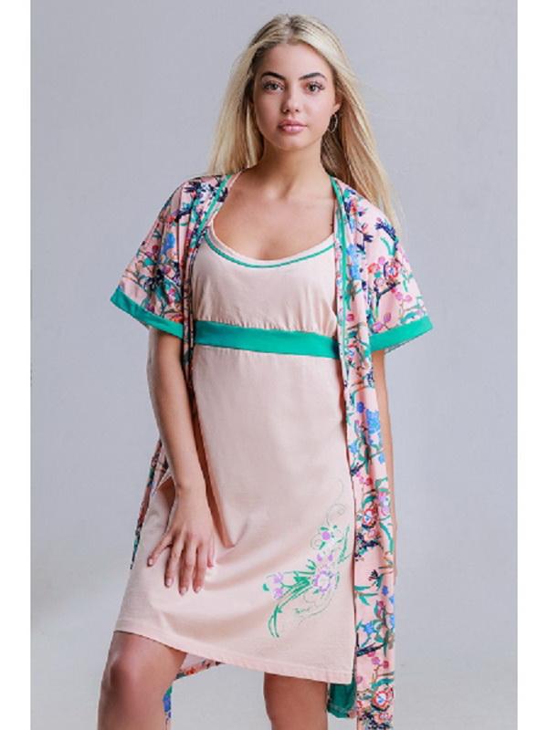 Комплект женский ЭссиНочные комплекты<br>Размер: 50<br><br>Принадлежность: Женская одежда<br>Основной материал: Трикотаж<br>Вид товара: Одежда<br>Материал: Трикотаж<br>Состав: 100% хлопок<br>Длина: 25<br>Ширина: 17<br>Высота: 9<br>Размер RU: 50