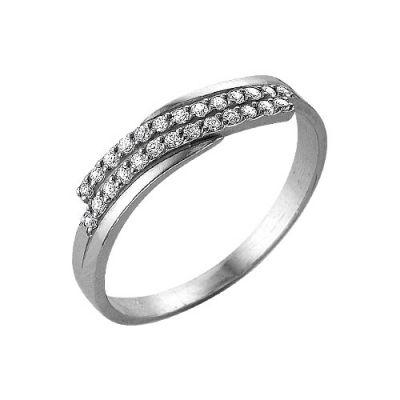 Кольцо серебряное 2382673ДСеребряные кольца<br>Вес  1,83<br>Вставка  Фианит<br>Покрытие  родирование Размер: 17.5<br><br>Высота: 3<br>Размер RU: 17.5