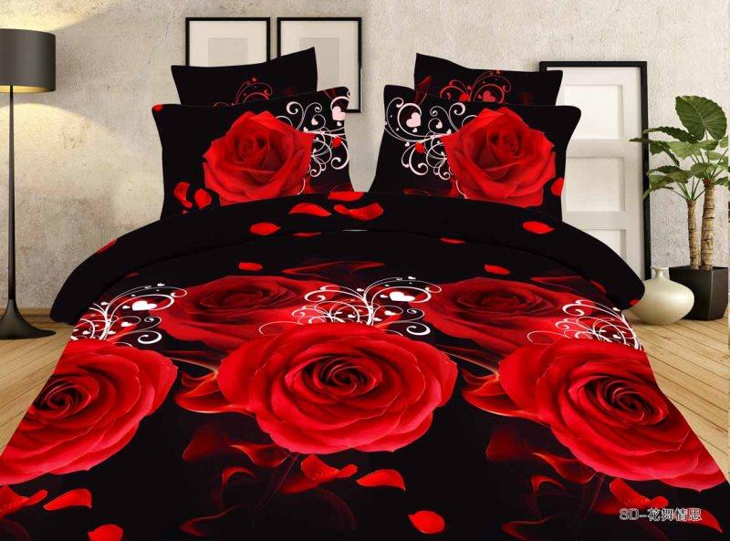 Постельное белье Красная роза 3D (полисатин) 2 спальный с Евро простыней (простыня на резинке)Полисатин<br>Размер: 2 спальный с Евро простыней (простыня на резинке)<br><br>Тип простыни: Без шва<br>Тип пододеяльника: Без шва<br>Принадлежность: Для дома<br>Плотность КПБ: 85 гр/кв.м<br>Категория КПБ: Цветы и растения<br>По назначению: Повседневные<br>Рисунок наволочек: Расположение элементов расцветки может не совпадать с рисунком на картинке<br>Основной материал: Полисатин<br>Страна - производитель ткани: Россия, г. Иваново<br>Вид товара: КПБ<br>Материал: Полисатин<br>Сезон: Круглогодичный<br>Плотность: 85 г/кв. м.<br>Состав: 100% полиэстер<br>Комплектация КПБ: Пододеяльник, простыня, наволочка<br>Длина: 37<br>Ширина: 28<br>Высота: 9<br>Размер RU: 2 спальный с Евро простыней (простыня на резинке)