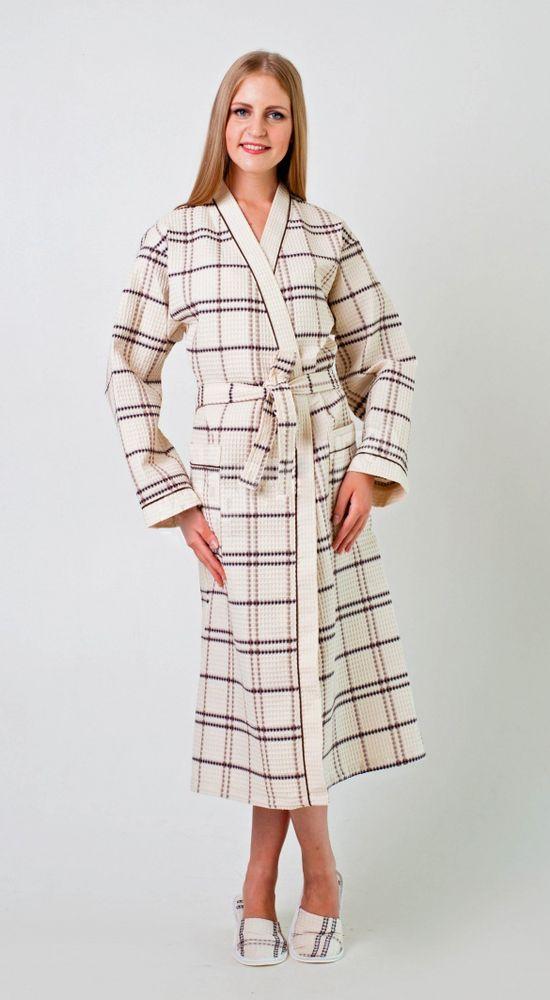 Халат женский вафельный ДуэтТеплые халаты<br>Плотность: 220 г.м2, 100% хлопок Размер: 44<br><br>Принадлежность: Женская одежда<br>Основной материал: Вафельное полотно<br>Страна - производитель ткани: Турция<br>Вид товара: Одежда<br>Материал: Вафельное полотно<br>Плотность: 220 г/кв. м.<br>Состав: 100% хлопок<br>Длина рукава: Длинный<br>Длина: 30<br>Ширина: 20<br>Высота: 11<br>Размер RU: 44