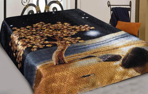 Покрывало Полнолуние (шелк) 3D 230х250Покрывала 3D<br>Каждый знаком с проблемой поддержания спального места в порядке, а мягкой мебели - в чистоте. Значительно упростить задачу может покрывало Полнолуние из шелка 3D.<br>Особенность модели - уникальная технология изготовления. Принцип термостежки или ультрастепа позволяет создавать плотное и прочное полотно. Сверху - набивной рисунок, снизу - однотонная подкладка. Аккуратность и завершенность изделию придают края, обработанные шелковой бейкой.<br>Купить стильное и оригинальное покрывало Полнолуние можно по доступной цене. Такое приобретение - незаменимая и полезная находка для дома.  Размер: 230х250<br><br>Производство: Закупается про запас<br>Принадлежность: Для дома<br>По назначению: Повседневные<br>Тип покрывала: Домашний<br>Основной материал: Шелк искусственный<br>Страна - производитель ткани: Россия, г. Москва<br>Вид товара: Пледы и покрывала<br>Материал: Шелк искусственный<br>Сезон: Круглогодичный<br>Плотность: 107 г/кв. м.<br>Состав: 100% полиэстер<br>Длина: 47<br>Ширина: 38<br>Высота: 8<br>Размер RU: 230х250