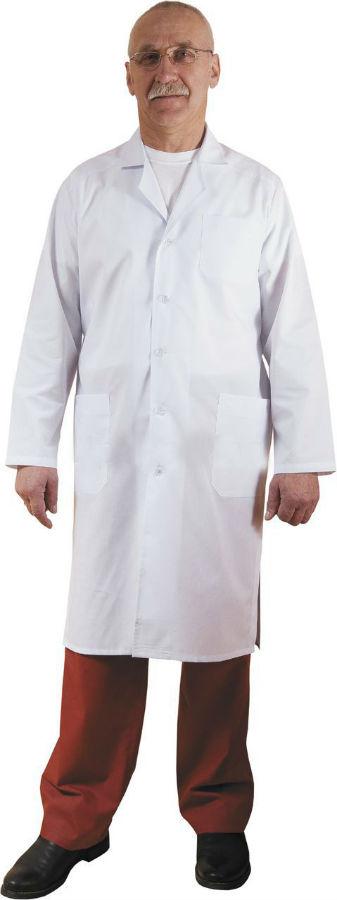Халат медицинский МаркДля врачей<br>Халат медицинский, застежка - пуговицы. Размер: 44-46<br><br>Принадлежность: Мужская одежда<br>Основной материал: ТИСИ<br>Страна - производитель ткани: Россия, г. Иваново<br>Вид товара: Одежда<br>Материал: Тиси<br>Состав: 65% полиэстер, 35% хлопок<br>Длина: 18<br>Ширина: 12<br>Высота: 7<br>Размер RU: 44-46